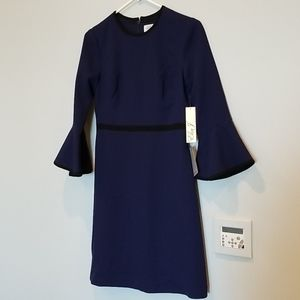 NWT Eliza J Fit-and-Flare Dress in Navy